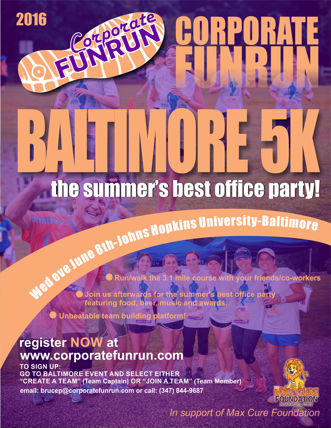 baltimore race flyer corporate funrun