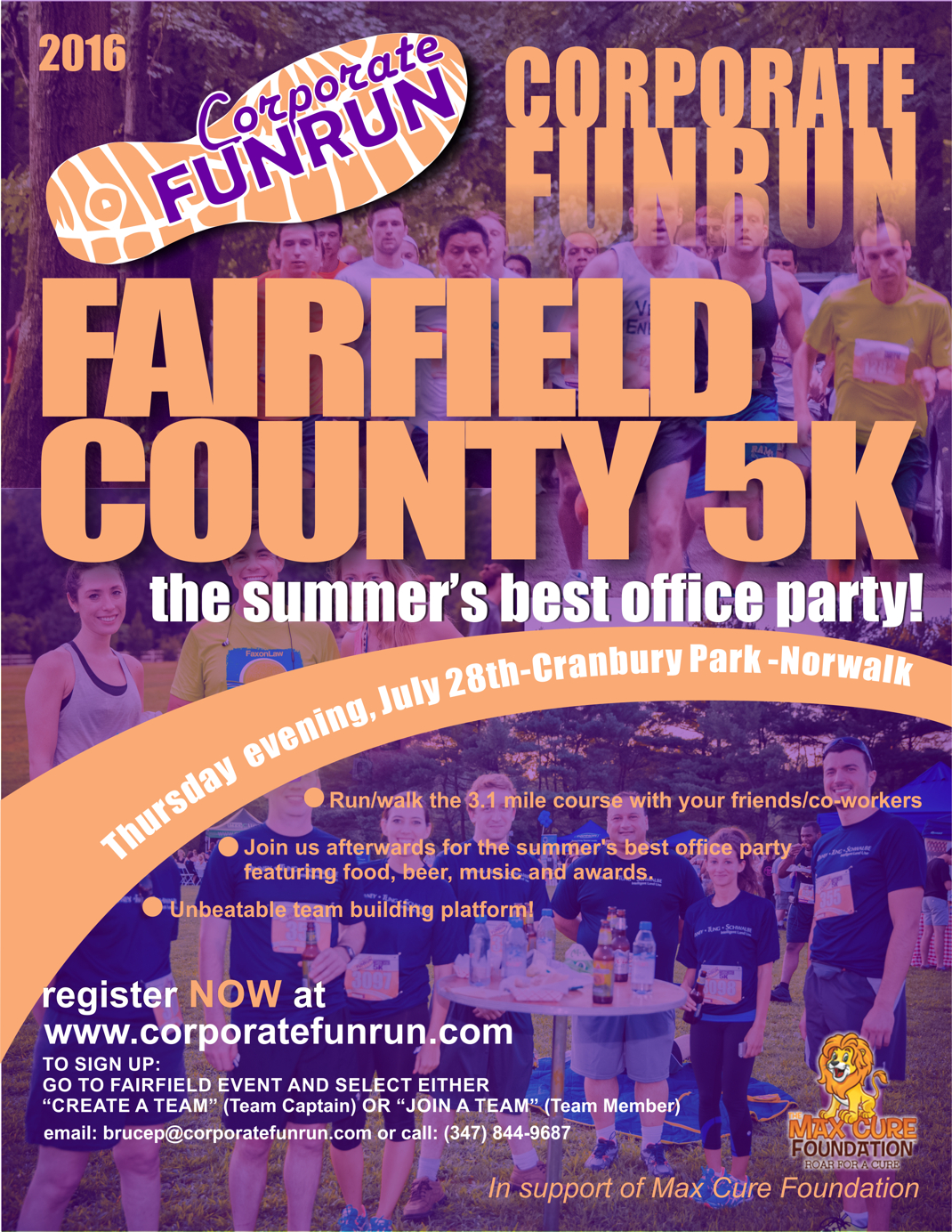 fairfield race flyer corporate funrun