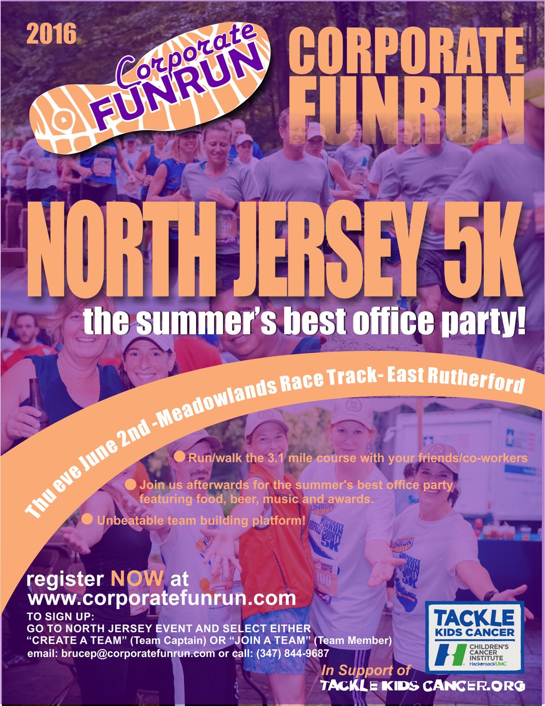 north jersey race flyer corporate funrun