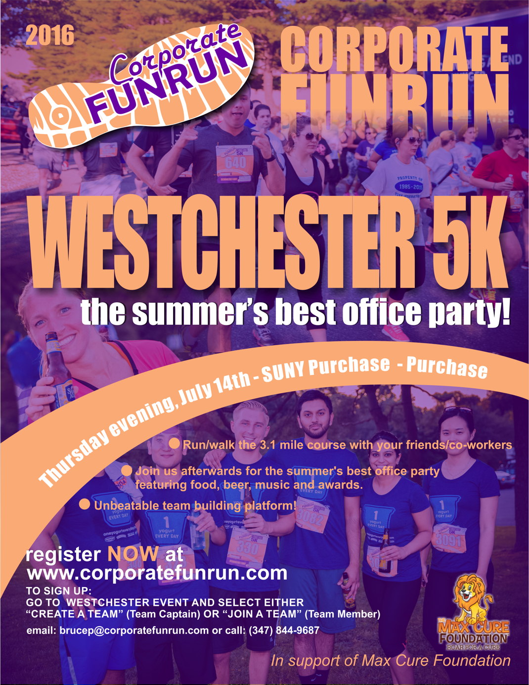 westchester race flyer corporate funrun